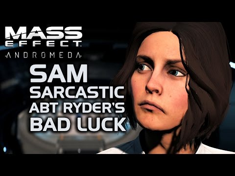Mass Effect Andromeda - SAM Sarcastic About Ryder's Bad Luck
