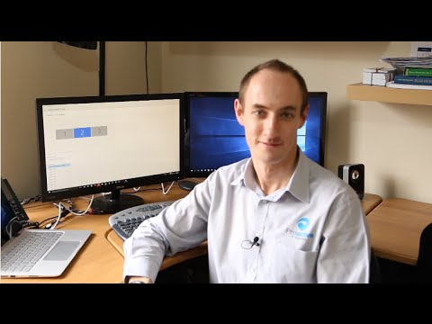 Setting up a multi-screen display in Windows 10