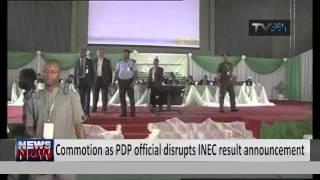 Godsday Orubebe disrupts INEC result announcement