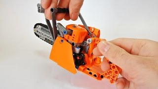 How to Build a Lego Technic Chainsaw