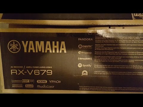 UNBOXING YAMAHA RX-V679 7.2 4K RECEIVER REVIEW