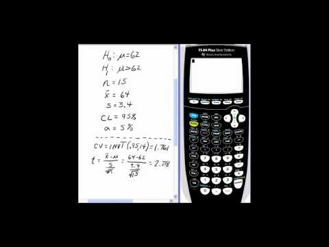 Hypothesis Testing on TI-84 Using T-Test