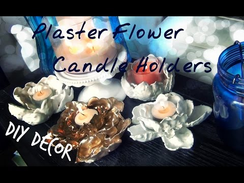 DIY Décor ♥ Plaster Flower Candle Holders