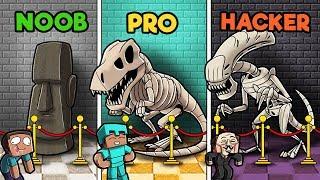 Download Minecraft - MUSEUM CHALLENGE! (NOOB vs PRO vs HACKER) Video