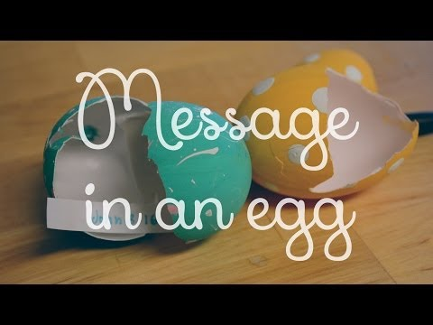 DIY: Message in an egg!