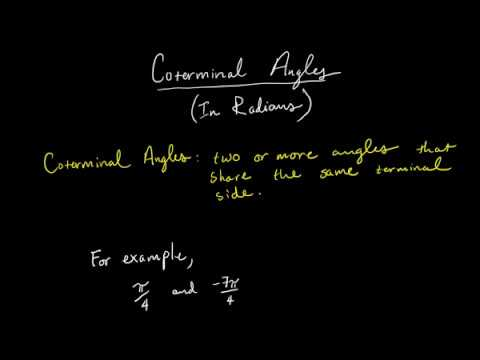 Coterminal Angles in Radians