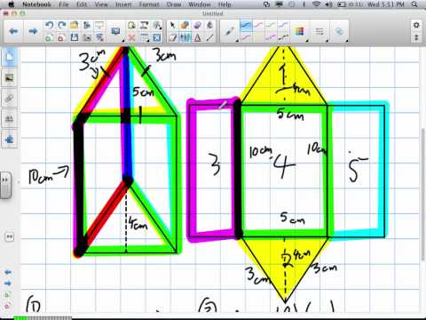 Surface Area of a Triangular Based Prism (Grade 10 Applied Review 6:19:12).mov