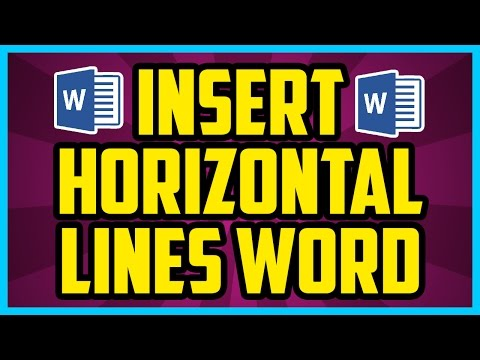 How To Insert Horizontal Lines In Microsoft Word - Microsoft Word 2010 Horizontal Lines Tutorial