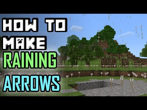 How to make ARROWS RAIN in Minecraft PE with Command Blocks
