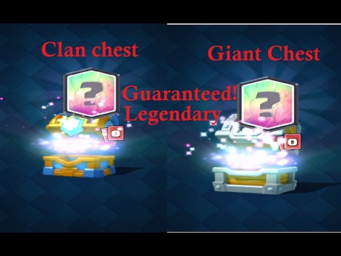 HOW TO GET A GUARANTEED LEGENDARY!!! - Clash Royale!!!(Clan chest and Giant Chest)