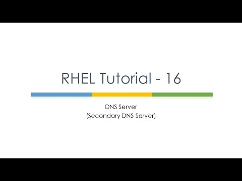 RHEL Tutorial 17 (Secondary DNS Server) : Linux Tutorials : Linux Secondary DNS Configuration