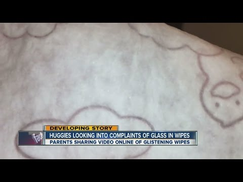 Denver mom says she found glass shards in her Huggies wipes