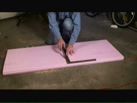 Install Insulated Attic Door Opening