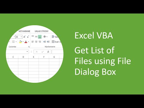 Excel VBA - How to Get a List of Files using File Dialog Box