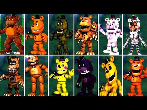 Five Nights at Freddy's 6 FNAF 5 4 3 2 1 ALL FREDDY ANIMATRONICS *FNAF 2018*