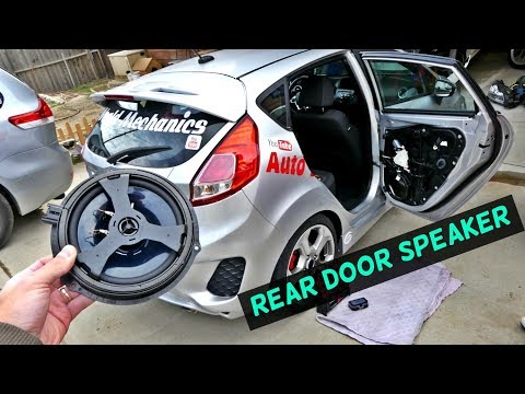 FORD FIESTA REAR DOOR SPEAKER REPLACEMENT REMOVAL FIESTA MK7