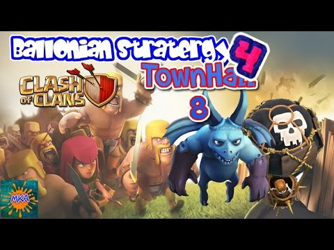 Clash Of Clans TH8 - Balloon/Minion Attacking Strategy