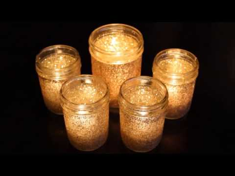 DIY Glitter Glass Candle Holders