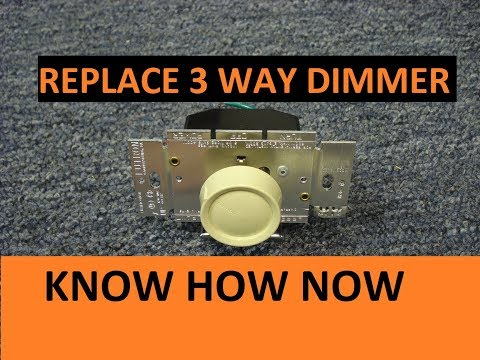 How to Replace a 3 Way Switch With Dimmer