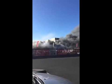 Fire at Abandoned Warehouse in Brunswick, Victoria