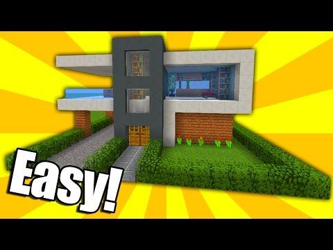 Minecraft: Easy Modern House Tutorial (#2)( Easy ) (PC/PE/Xbox/Playstation/)
