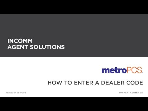 MetroPCS - How to Enter a Dealer Code