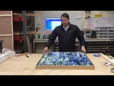 Order and assembly of a custom modular floater frame