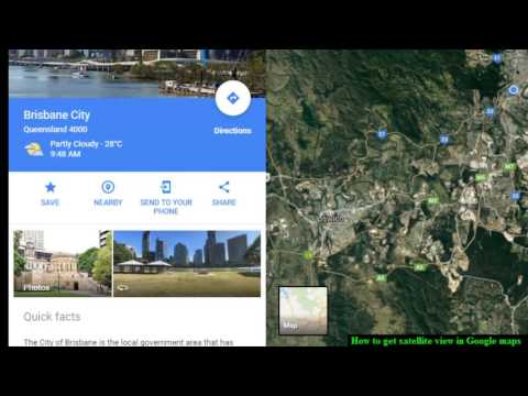 How to get satellite view in Google maps
