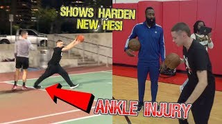 Download Professor Shows James Harden New Stepback.. 5v5 w/ Tristan Jass but SCARY ankle injury but EPIC DAY Video