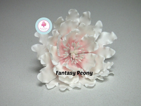 How to make a Sugar Fantasy Peony tutorial using flower paste or gum paste - Ceri Badham