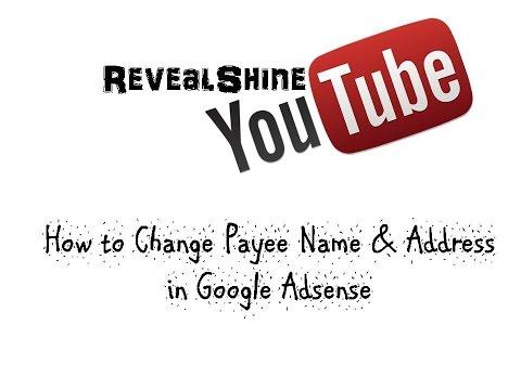 How to change payee name & address in google adsense urdu/ hindi
