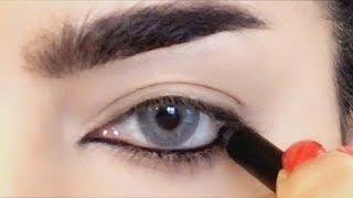 بثينة الرئيسي خطوات رسم العيون بالقلم يجنن😍