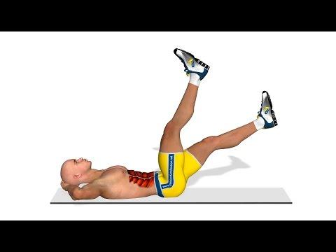 Nedre magemuskler: Ben løft i fire steg