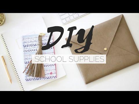DIY School Supplies | Pinterest Inspired | Minimalist + Designer Inspired