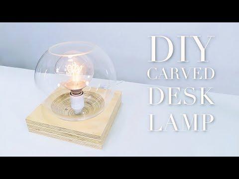 DIY Desk Lamp With Contoured Base |