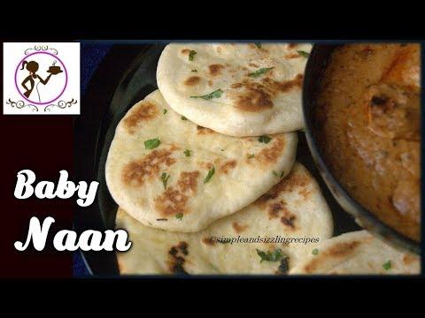 বেবি নান - Baby Butter Naan Without Yeast Without Tandoor Bengali Recipe