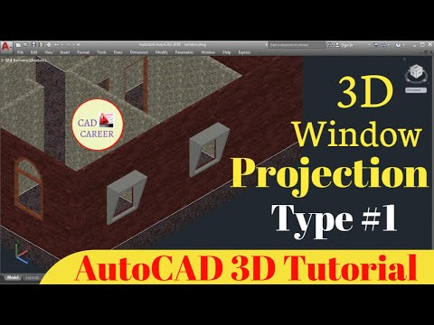 Window Projection In AutoCAD 3D In 3D House | Make 3D Window projection | CAD CAREER