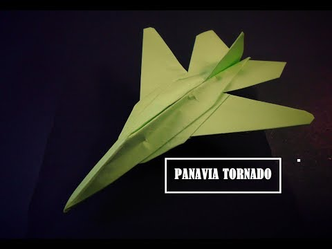 How To Make Paper Airplane - Easy Paper Plane Origami Jet Fighter Is Cool | Panavia Tornado