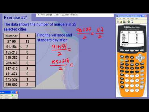 Finding the Standard Deviation of Grouped Data Using TI-84