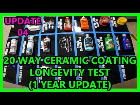 UPDATE 04: 20 way Ceramic coating synthetic wax longevity test Perfection Correction LLC