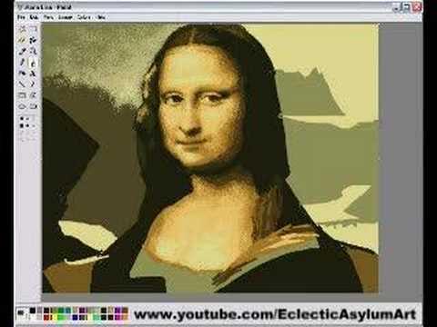 Mona Lisa in MS Paint