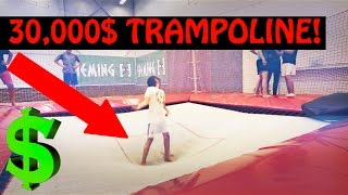 Most Expensive Trampolines [CRAZY TRICKS]