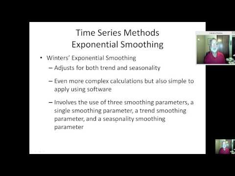 Three parameter smoothing  (Holt-Winters Method)