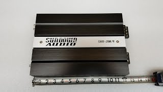 Amp Test Tuesday Sundown Audio SAX-200.4 v.2 Amplifier on the SMD Amp Dyno