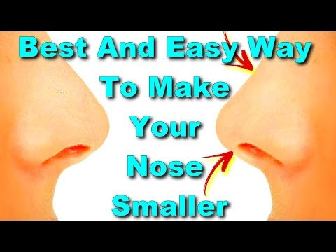 best and easy way to make your nose smaller