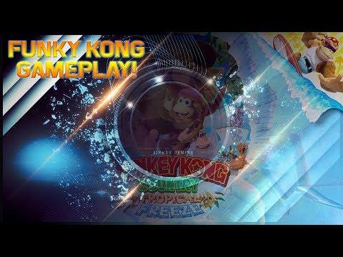【Donkey Kong Tropical Freeze】Funky Kong Gameplay!