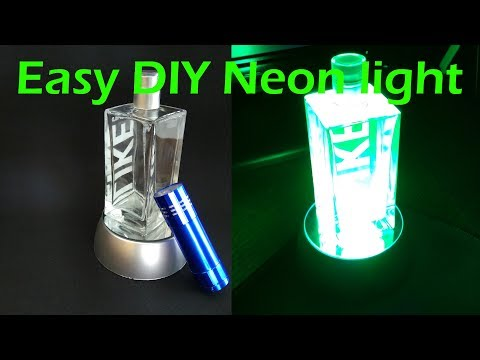 How cool is this?! DIY Neon Decor Lamp - Awesome and easy to build!
