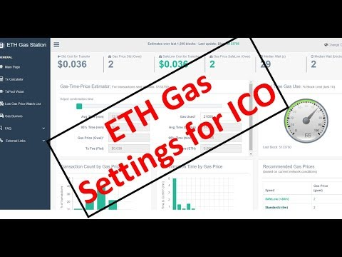 How to Set GAS Price and GAS Limit on MyEtherWallet for ICOs?