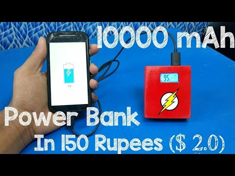 How to make powerbank for mobile at home 10000mah