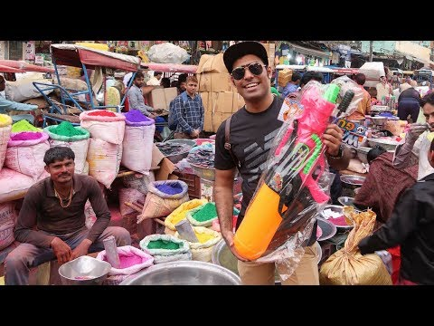 Shopping For Holi | Sabse Pakke Rang Yha Milte Hai